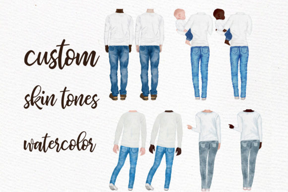 Watercolor Family Clipart Graphic Illustrations By LeCoqDesign - Image 2