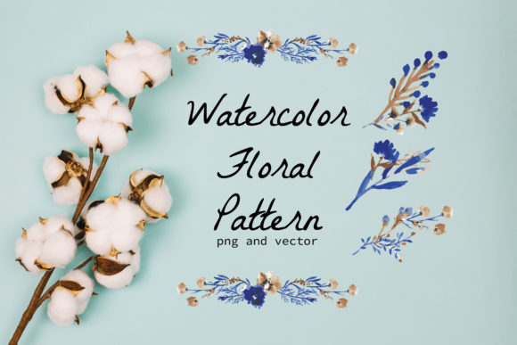 Watercolor Floral Wreath and Stock Graphic Print Templates By little scar