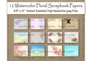 Download Free Watercolor Flower Scrapbook Paper Paint Graphic By for Cricut Explore, Silhouette and other cutting machines.