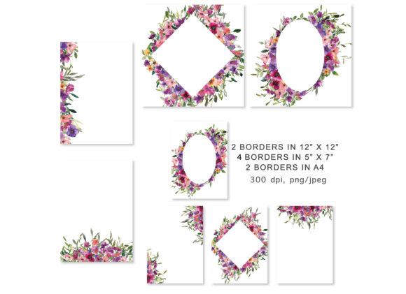 Watercolor Flowers Backgrounds Graphic Backgrounds By Patishop Art - Image 2