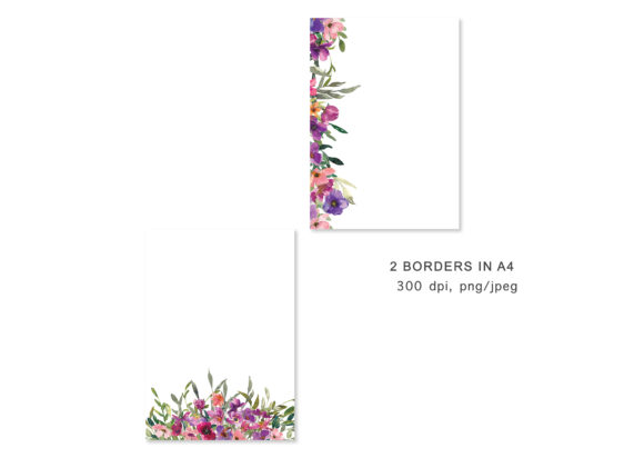 Watercolor Flowers Backgrounds Graphic Backgrounds By Patishop Art - Image 4