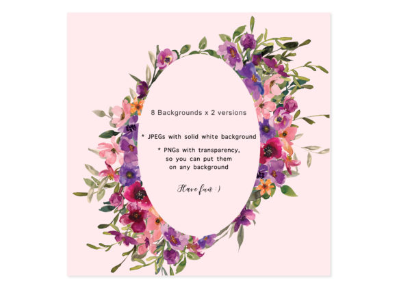 Watercolor Flowers Backgrounds Graphic Backgrounds By Patishop Art - Image 5