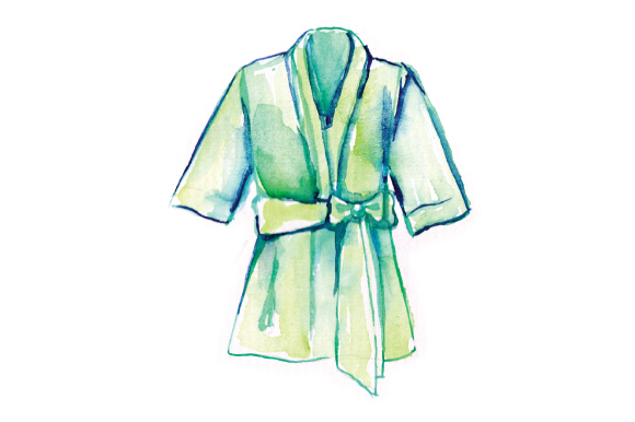 Download Free Watercolor Green Wedding Robe Svg Cut File By Creative Fabrica for Cricut Explore, Silhouette and other cutting machines.