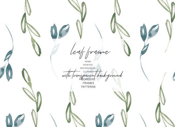 Download Free Watercolor Leaf Frames Borders Set Graphic By Patishop Art for Cricut Explore, Silhouette and other cutting machines.