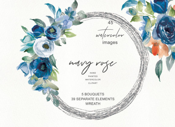 Download Free Watercolor Nave Rose Clipart Graphic By Patishop Art Creative for Cricut Explore, Silhouette and other cutting machines.