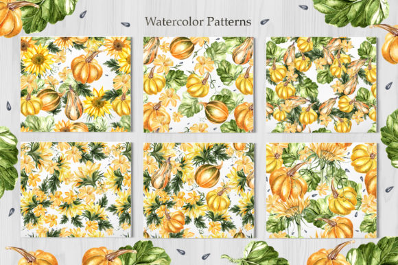 Watercolor Sunflower & Pumpkins Graphic Objects By Knopazyzy - Image 4