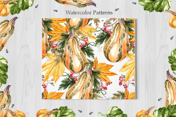 Watercolor Sunflower & Pumpkins Graphic Objects By Knopazyzy - Image 5