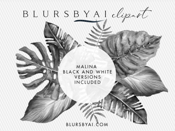 Download Free Watercolor Tropical Leaves Graphic By Blursbyai Creative Fabrica SVG Cut Files