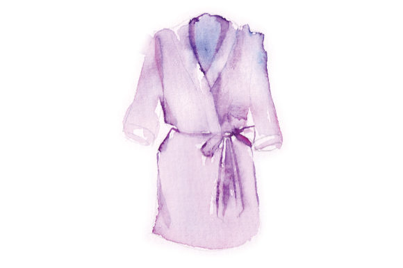 Watercolor Violet Wedding Robe Wedding Craft Cut File By Creative Fabrica Crafts - Image 1