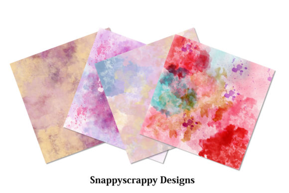 Watercolour Splash Background Papers Graphic By Snappyscrappy Image 4