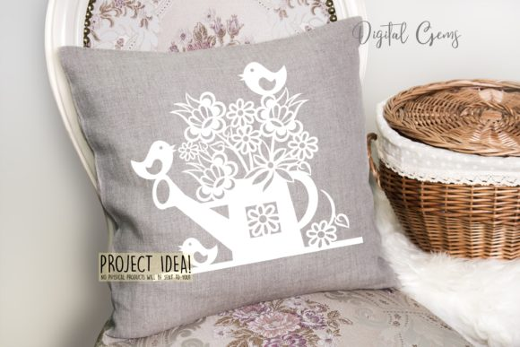Watering Can Paper Cut Design Graphic By Digital Gems Image 5