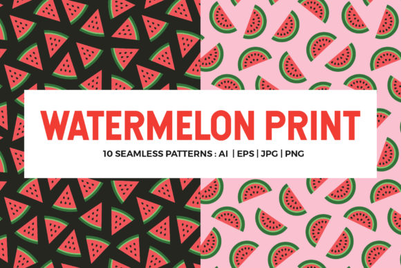 Watermelon Seamless Patterns Graphic Patterns By abstractocreate