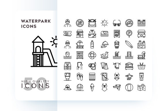 Print on Demand: Waterpark Icons Graphic Icons By Goodware.Std