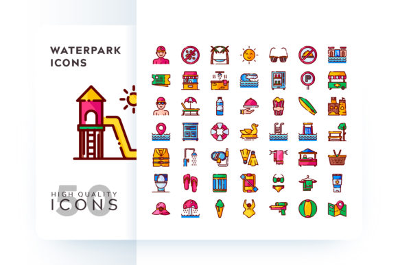 Waterpark Icons Graphic By Goodware.Std