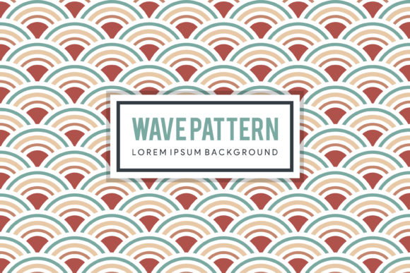 Print on Demand: Wave Pattern Graphic Patterns By noory.shopper