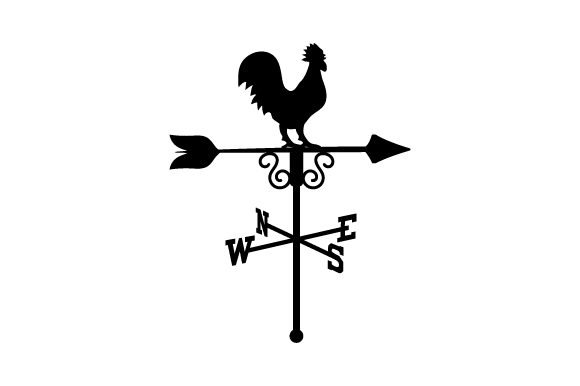Weathervane with Rooster on Top Farm & Country Craft Cut File By Creative Fabrica Crafts - Image 2