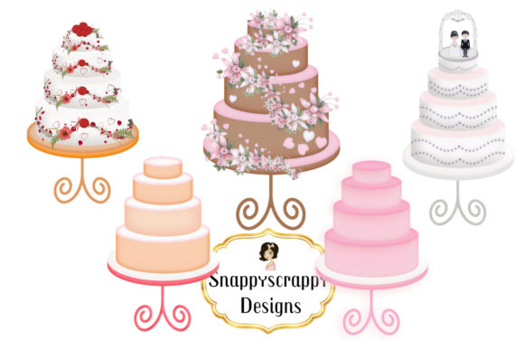 Wedding Cake Clipart Graphic By Snappyscrappy Image 2