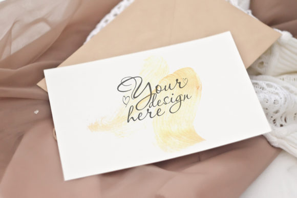 Download Free Wedding Card Mockup Vintage Style Graphic By Natalia Arkusha Creative Fabrica SVG Cut Files