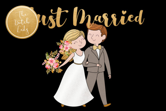 Wedding Day & Marriage Clipart Set Graphic By daphnepopuliers Image 2