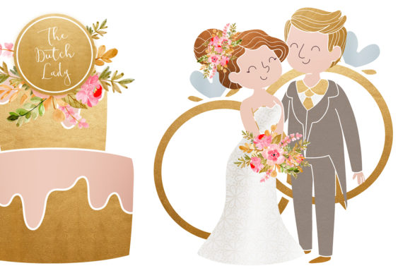 Wedding Day & Marriage Clipart Set Graphic By daphnepopuliers Image 4