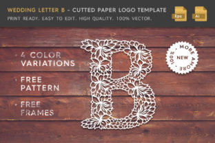 Wedding Letter B - Logo Template Graphic Logos By Textures
