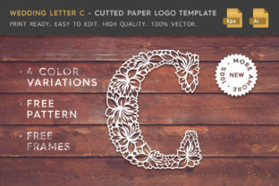 Wedding Letter C - Logo Template Graphic By Textures