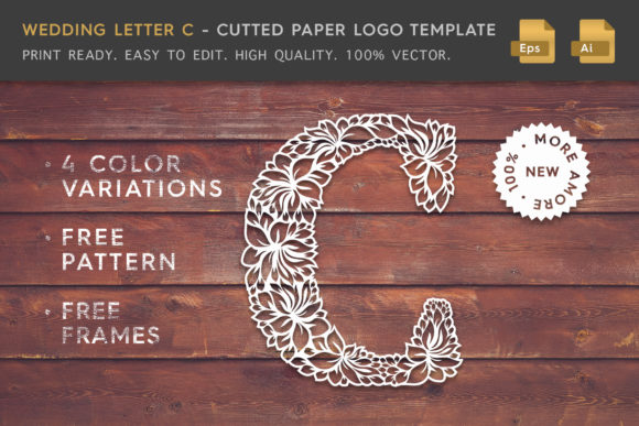 Wedding Letter C - Logo Template Graphic Logos By Textures