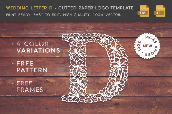 Wedding Letter D - Logo Template Graphic Logos By Textures