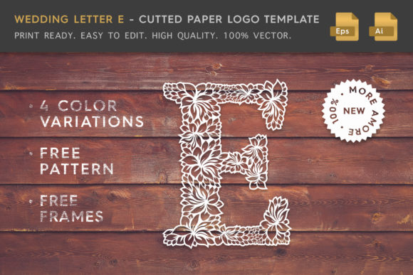 Wedding Letter E - Logo Template Graphic Logos By Textures