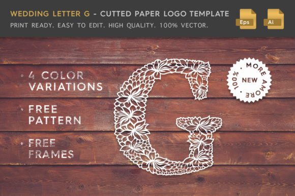 Wedding Letter G - Logo Template Graphic By Textures