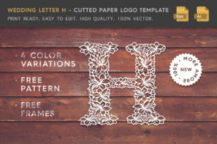 Wedding Letter H - Logo Template Graphic By Textures