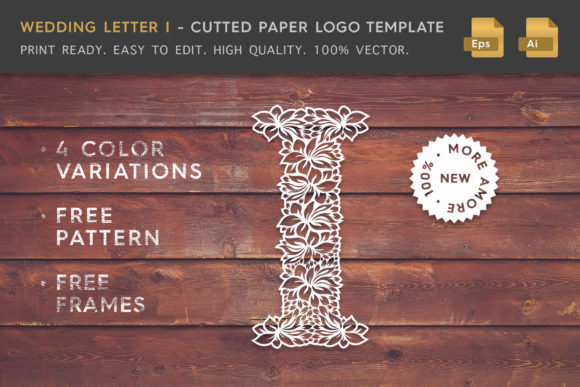 Wedding Letter I - Logo Template Graphic Logos By Textures