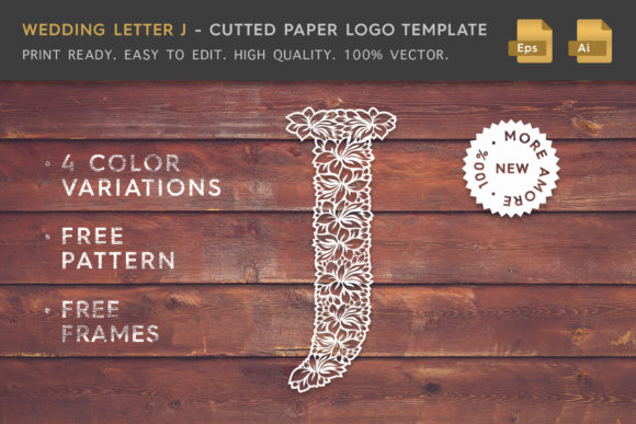 Wedding Letter J - Logo Template Graphic Logos By Textures