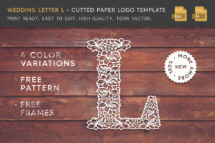 Wedding Letter L - Cutted Paper Logo Tem Graphic By Textures