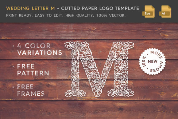 Wedding Letter M - Logo Template Graphic Logos By Textures