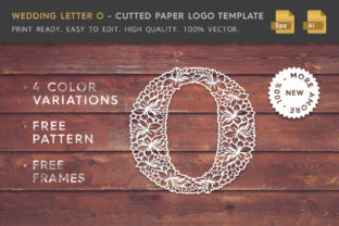 Wedding Letter O - Logo Template Graphic By Textures