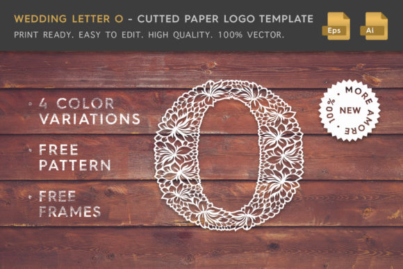 Wedding Letter O - Logo Template Graphic Logos By Textures