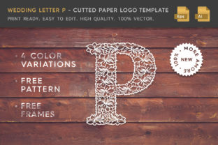 Wedding Letter P - Logo Template Graphic By Textures