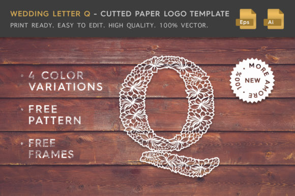 Wedding Letter Q - Logo Template Graphic By Textures