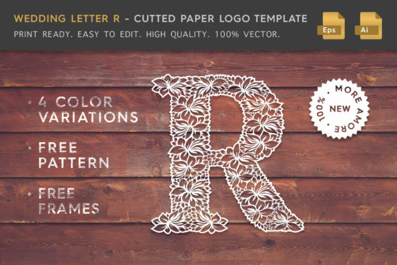 Wedding Letter R - Logo Template Graphic Logos By Textures