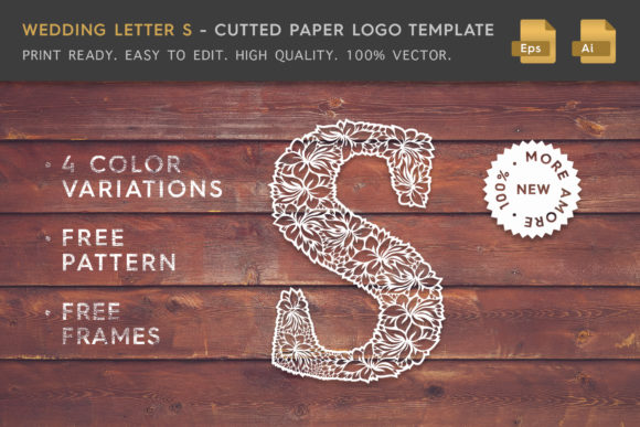 Wedding Letter S - Logo Template Graphic Logos By Textures