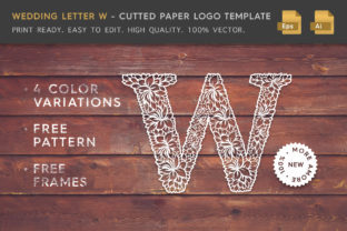 Wedding Letter W - Logo Template Graphic By Textures