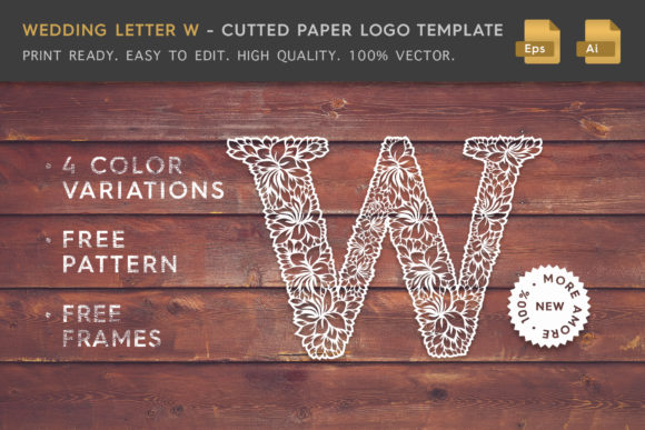 Wedding Letter W - Logo Template Graphic Logos By Textures