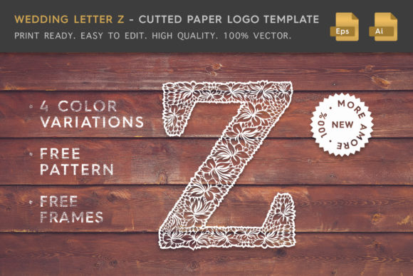 Wedding Letter Z Logo Template Graphic Logos By Textures