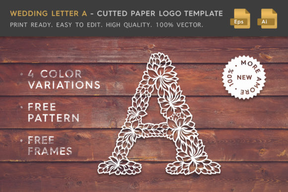 Wedding Letter a - Logo Template Graphic Logos By Textures
