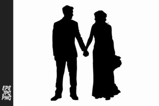 Wedding Silhouette Clipart Grafico Por Arief Sapta Adjie