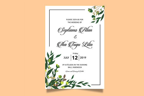 Download Free Wedding Invitation Envelope Template Graphic By Bint Studio for Cricut Explore, Silhouette and other cutting machines.