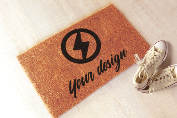 Download Free Welcome Mat Doormat Product Mockup Graphic By Risarocksit for Cricut Explore, Silhouette and other cutting machines.