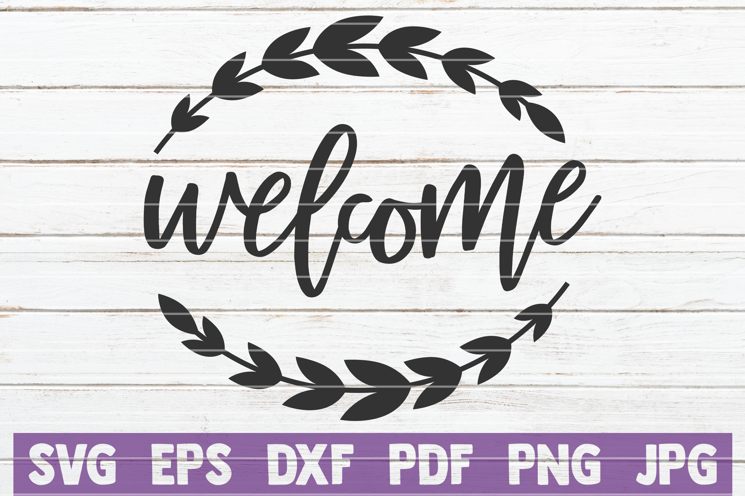 Download Free Welcome Graphic By Mintymarshmallows Creative Fabrica for Cricut Explore, Silhouette and other cutting machines.