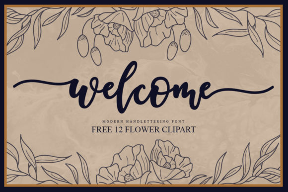 Print on Demand: Welcome Script Script & Handwritten Font By Graphix Line Studio